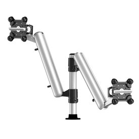 Dual Apple Monitor Mount with 7-1n-1 Base and Spring Arm