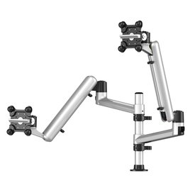 Dual Apple Monitor Mount Floating Arm with 7 in 1 Base