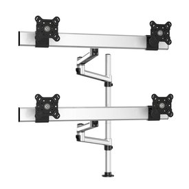 Triple Monitor with 7-in-1 Base and Spring Arm Pole Mount