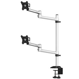 Dual Monitor Dual Adjustable Arm Mount