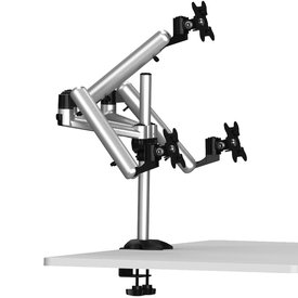 Spring'n Swivel Adjustable Triple Monitor Desk Mount