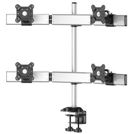 Quad Monitor Desk Mount for Straight or Cockpit Placement