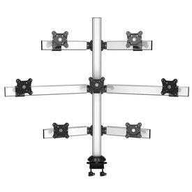 Super Seven Multi-Screen Desktop Monitor Mount with 2-in-1 Base