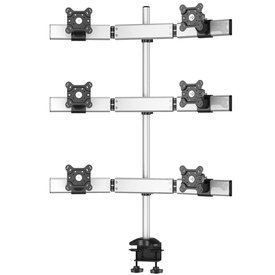 Sixfold Pro Six Monitor Three Rows Desk Mount