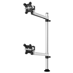 Vertical Dual Apple Monitor with 7-in-1 Base and Swivel Arm
