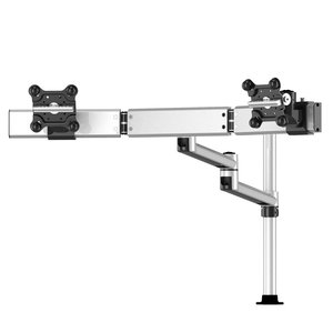 Dual Apple Monitor w/ Arc Cross Bar & 7-in-1 Base, Dual Swivel Arm