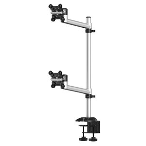 Dual Extension Arm Apple Monitor Desk Stacking Mount