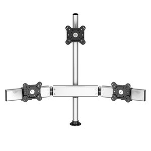 Triple Monitor with 7-in-1 Base Pole Mount - Low Profile & Triangle