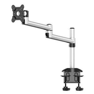 Single Monitor Dual Adjustable Arm Desk Mount