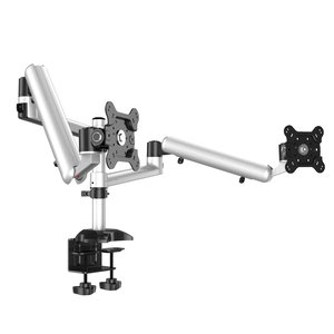 Spring'n Swivel Dual Monitor Desk Mount Top Down
