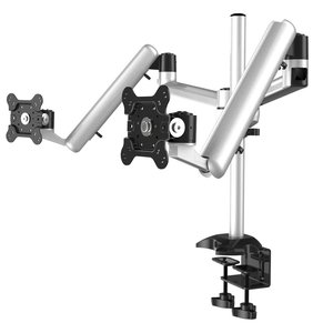 Spring 'n Swivel Adjustable Dual Monitor Desk Mount