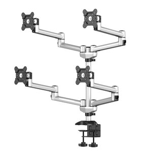 SwivelScreen Adjustable desk mount for Quad Monitors