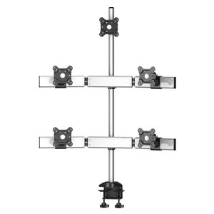 Sky High Extra Long Desk Monitor Mount for Five Monitors