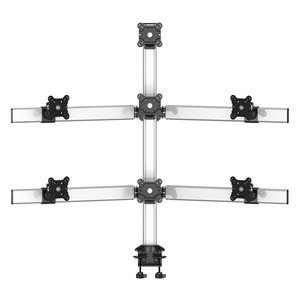 Lucky Seven Multi-Screen Three rows Desk Monitor Mount