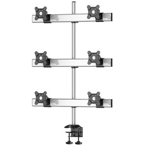 Sky High Extra Long Desktop Monitor Mount for Six Monitors