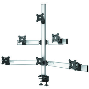 Six Monitor Deluxe Pyramid Desk Mount