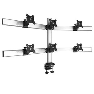 Super Six Desktop Monitor Mount for Six Monitors