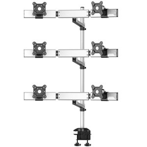 Sixfold Pro Six Monitor Three Rows Desk Mount, Swivel Arm