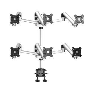 Six Monitor Six-way Desk Mount, Spring Arm