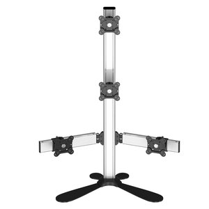 Sky High Extra-Long Freestanding Monitor Mount for Four Monitors