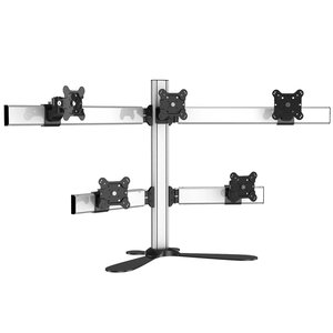 PyraMount Five Monitor Freestanding Desktop Monitor Mount