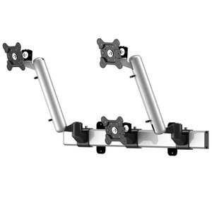 Front and Center Adjustable Triple Monitor Wall Mount