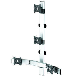 Elemount Flat Panel Four Monitor Wall Mount w/Extension
