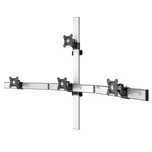 Quadstar Four Monitor Flat Panel Wall Mount w/Extension