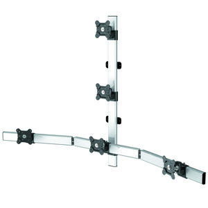 Mainsail Flat Panel Five Monitor Wall Mount w/Extension