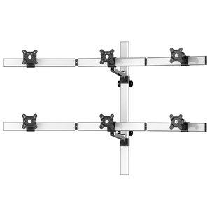 VastVu Single-Arm Swivel Flat Panel Six Monitor Wall Mount